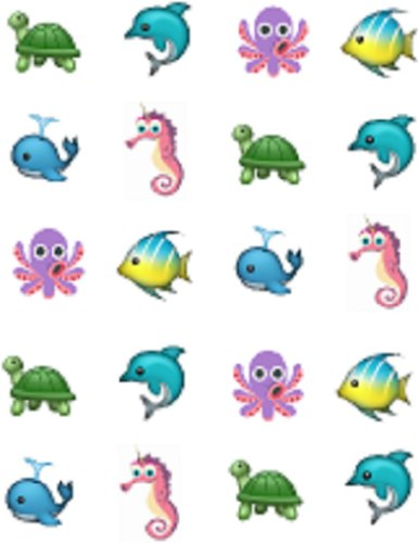 40 Emoji Sea CreaturesNail Art Designs Decals