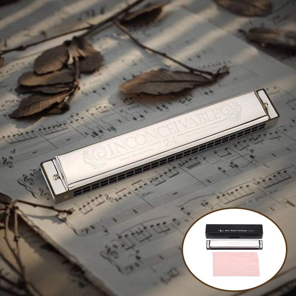 BEESCLOVER SWAN SW24-4 Tremolo Harmonica 24 Holes 48 Tones C Key Harmonica