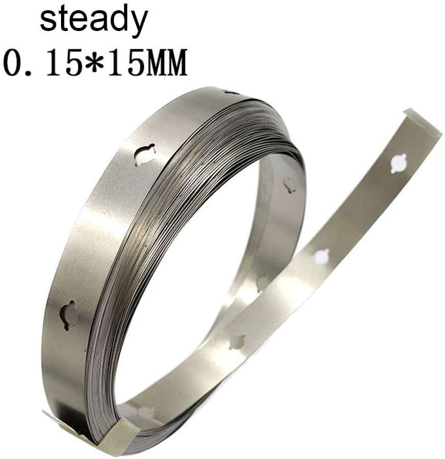 minansostey10/15mmx10m Nickel Strip for 18650 Lithium Battery Pack Spot Welding Nickel Belt