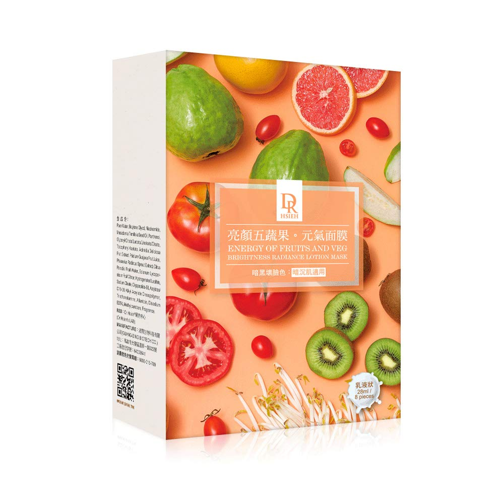 DR.HSIEH Energy of Fruits and Veg Brightness Radiance Lotion Mask 8pcs