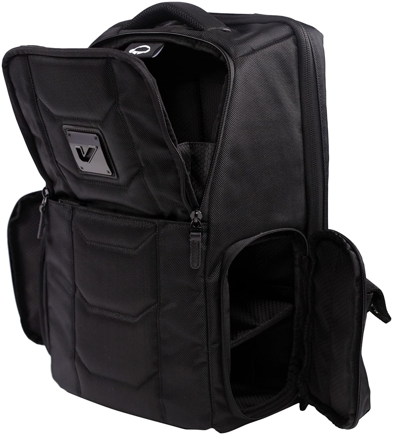 Gruv Gear Club Bag Elite  Flight-Smart Tech Backpack, Stealth Black