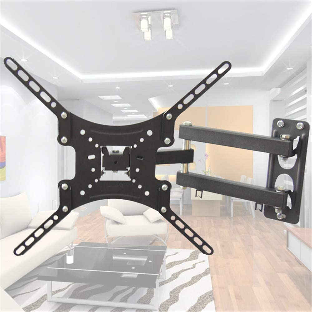 Universal Multi-Function TV Rack Multi-Directional Telescopic Rotating LCD TV Monitor Wall Mount Bracket Suitable for 10-55