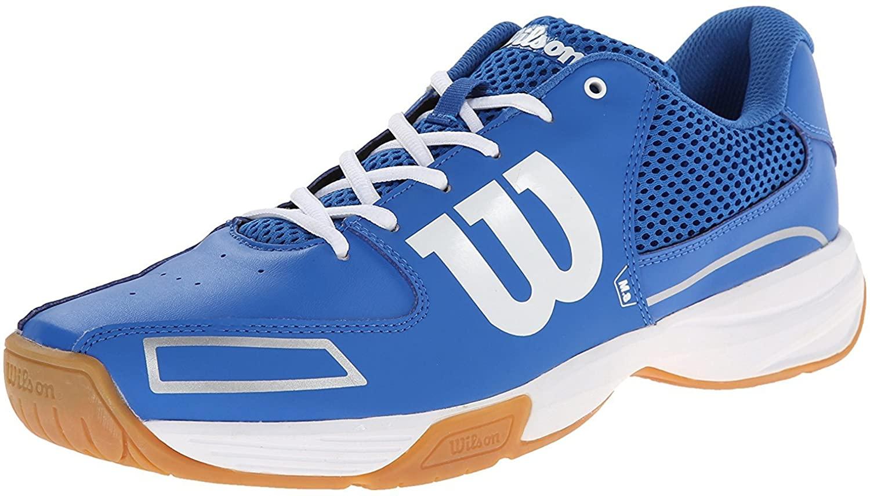 Wilson Men's Storm Indoor Court Shoe, New Blue/New Blue/White, 4.5 M US