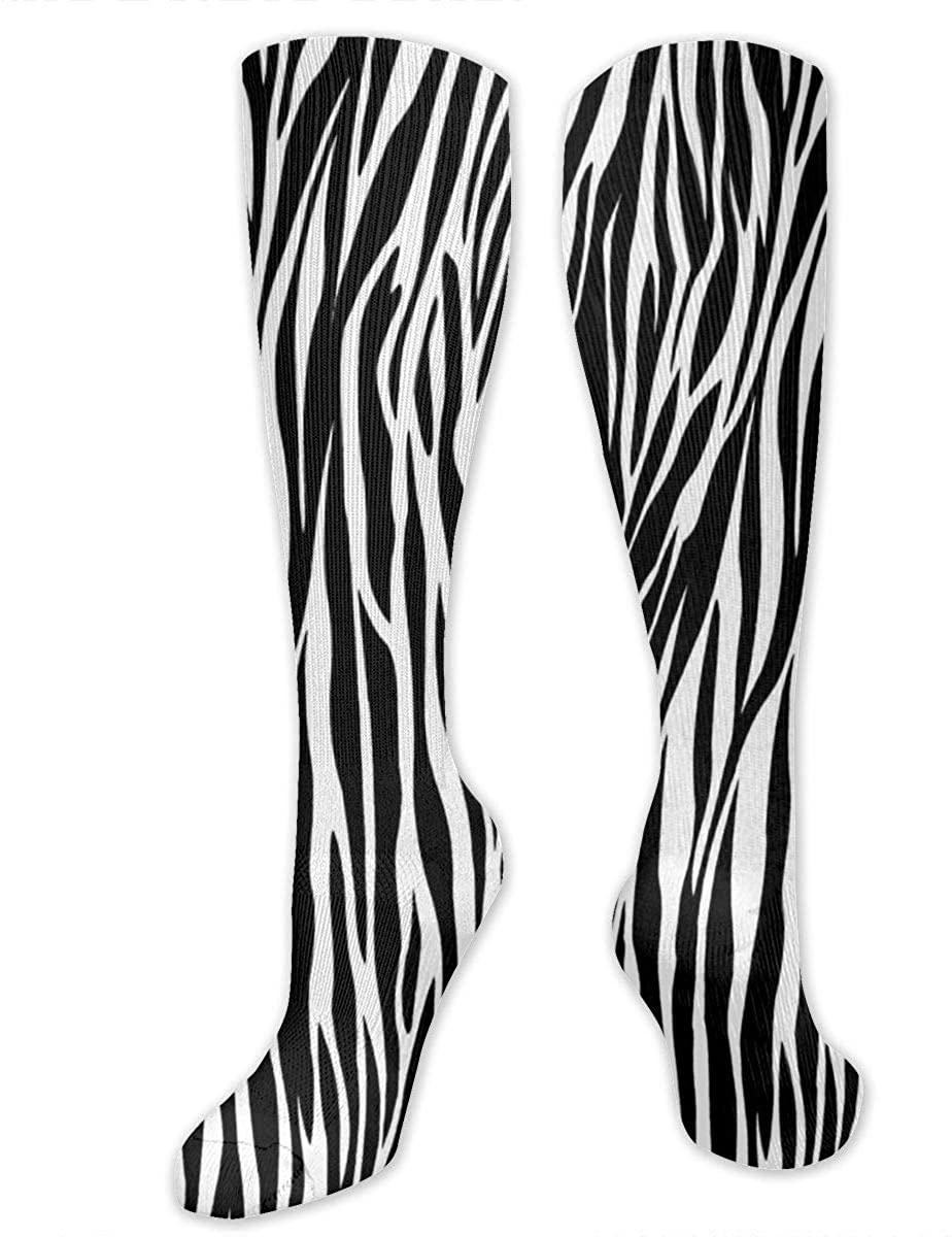 Zebra Print Athletic Socks Thigh Stockings Over Knee Leg High Socks