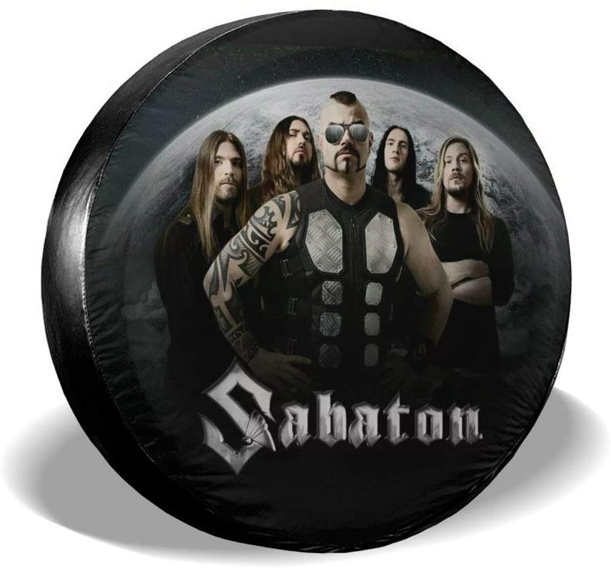 N/C Deborah E Freeman Sabaton Tire Cover,Accessories Universal Spare Tire Cover.Foldable Spare Tire Covers Protection Covers.