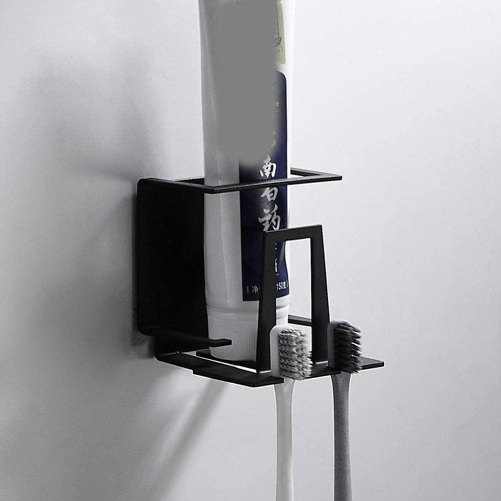 Toothbrush Cup Holder,304 Stainless Steel, Bathroom Accessories Black Adhesive Tumbler Holder