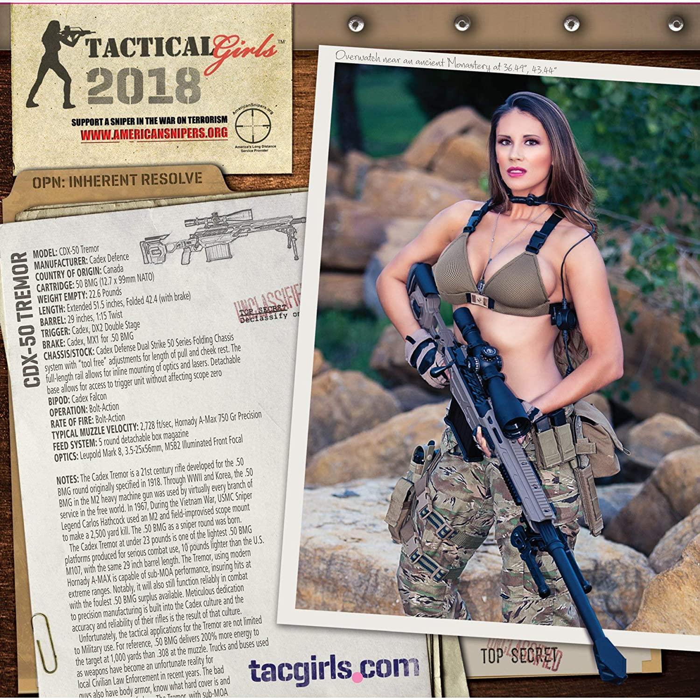 2018 Tactical Girls Gun Calendar