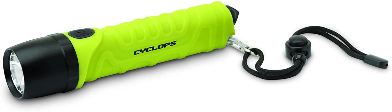 Cyclops  Utility Flashlight with Glassbreaker- Lime Green
