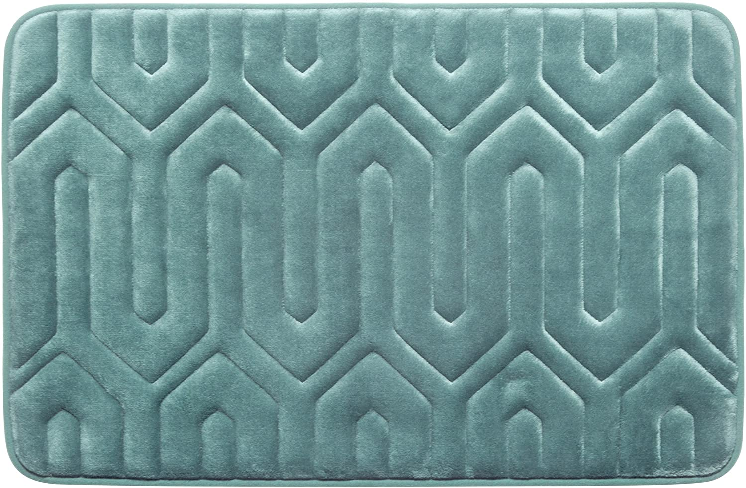 Thea Premium Extra Thick Memory Foam Bath Mat with BounceComfort Technology, 20 x 32 Marine Blue
