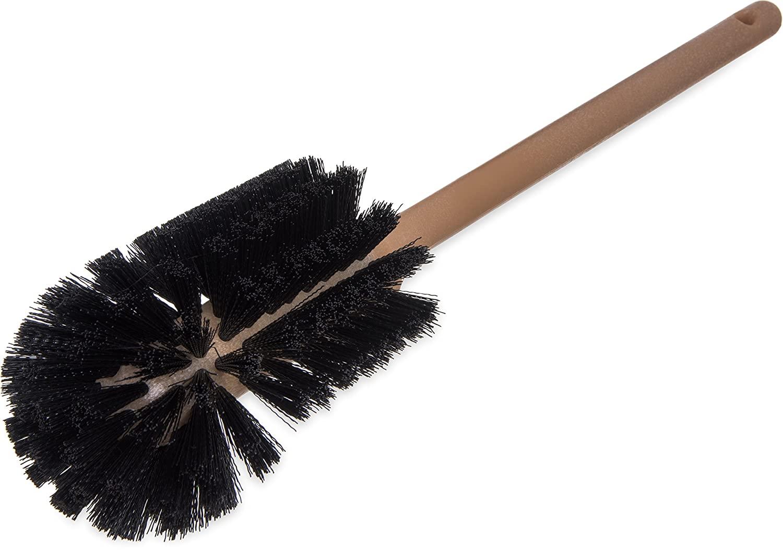 Carlisle 4014000 Flo-Pac Plastic Handle No-Splash Bowl Brush, Polyester Bristles, 6-1/2