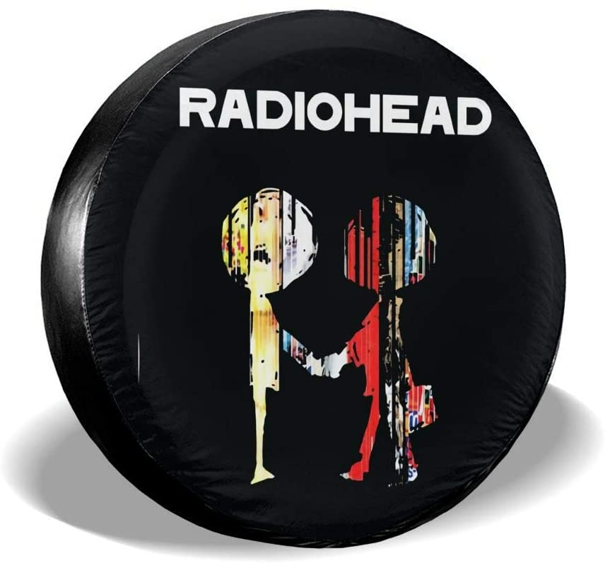 Liuqidong The Best of Radiohead Suitable for Jeep, Trailer, Rv, SUV, Truck and Many Vehicles, 14 15 16 17 Inch Wheel Cover Water-Proof Dust-Proof Sun Protection