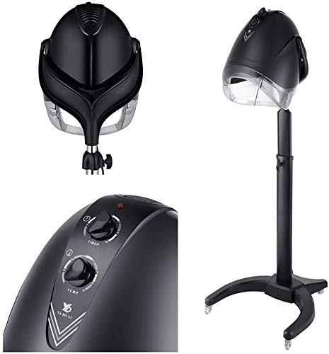 Portable Salon Hair Hood Dryer Stand Up Bonnet, Hairdresser Free Standing Floor Hairdryer,folding1000W Heating Machine, Hair Color Processor Accelerator Styling Tools 806 (Color : BlackB)
