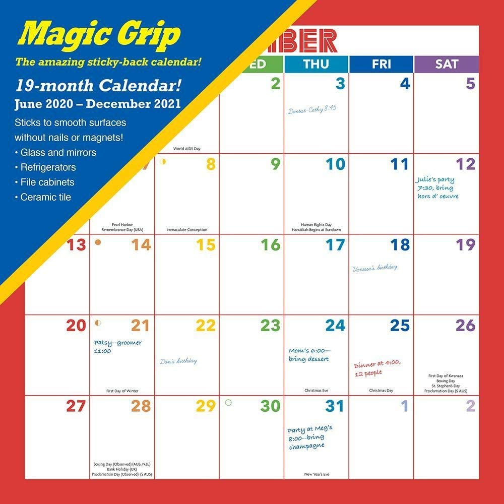 Calendar Ink, Rainbow Magic Grip Wall Calendar 2021
