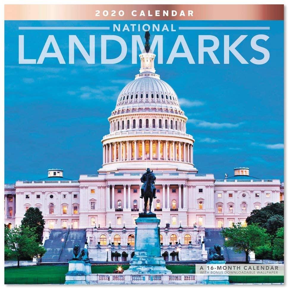 2020 National Landmarks Wall Calendar (LME1641020)
