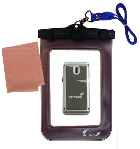 outdoor Gomadic waterproof carrying case suitable for the TomTom MKII Wireless GPS Receiver to use underwater - keeps device clean and dry