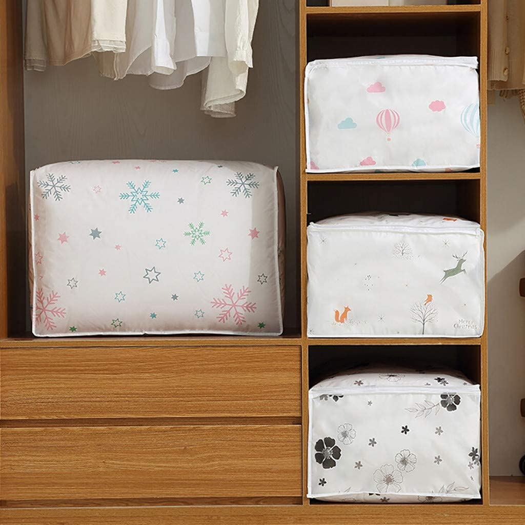HYGCGH7Y Comforter Storage Bags Containers,Pillow,Beddings,Clothes Organizer with Zippers