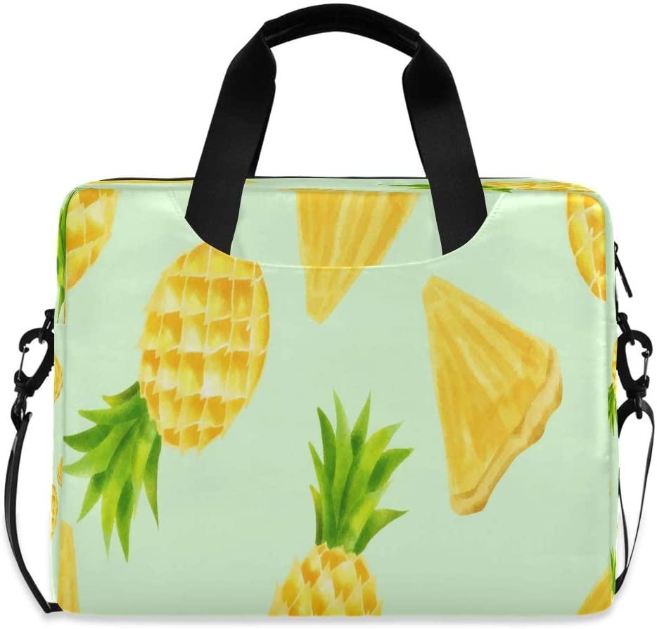 Laptop Bag Briefcase Shoulder Bag - Beautiful Watercolor Pineapple Summer 15.6 Inch Tote Bag Laptop Messenger Shoulder Bag Laptop Sleeve, Great to Office
