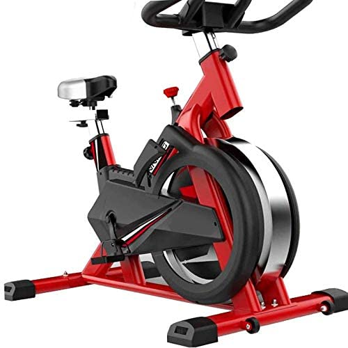 AIZYR Removable Exercise Bike Indoor Cycling Bike, Fitness Equipment with Tablet Holder LCD Display Adjustable Seat Height Belt Driven Flywheel