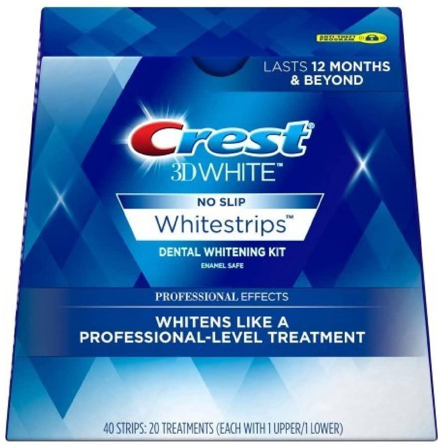Crest 3D No Slip Whitestrips Professional Effects Teeth Whitening Kit 20 ea (Pack Of 3)