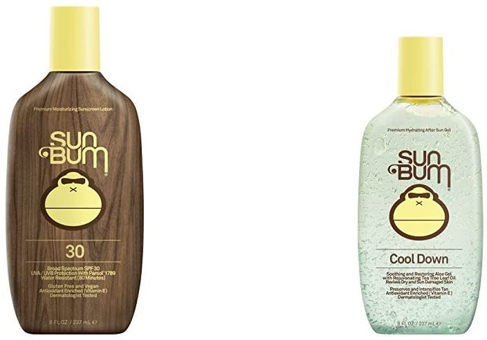Sun Bum Original Sunscreen Lotion, SPF 30 and Cool Down Hydrating After Sun Gel