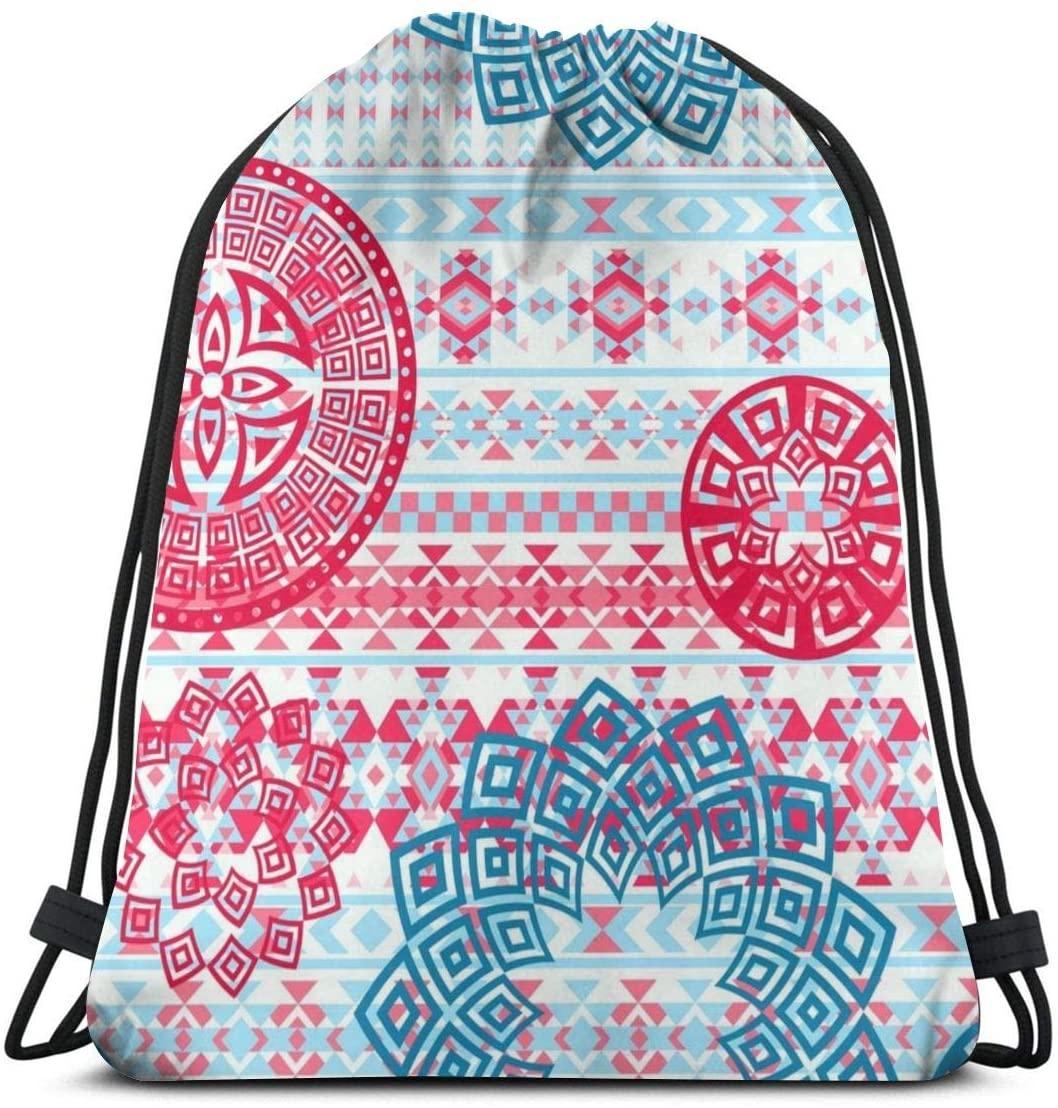 Backpack Drawstring Bags Cinch Sack String Bag Mandala Retro Art Sackpack For Beach Sport Gym Travel Yoga Camping Shopping School Hiking Men Women