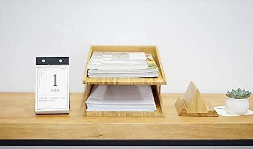 Rart Halter Desktop 3-Tier Shelf Tray Organizer,Stackable Wooden Book Shelf Storage Rack DIY Desk Organizer -A 25x34x18cm(10x13x7inch)