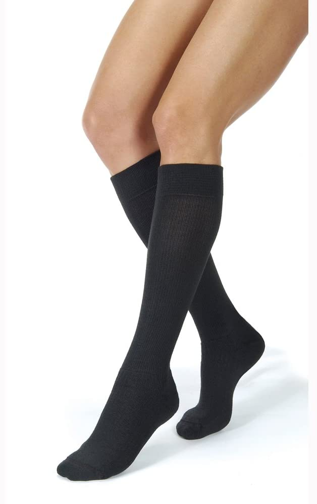 Activewear 30-40 mmHg Firm Support Unisex Athletic Knee High Support Sock Size: X-Large, Color: Cool Black
