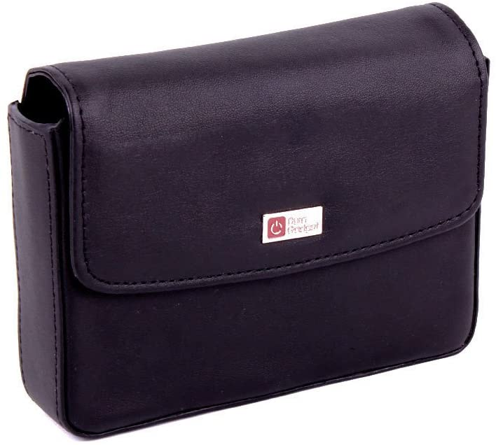 DURAGADGET Genuine Black Leather Case - Compatible with Garmin Nuvi 2507|Nuvi 50|Nuvi 2557LMT|2507 5Sat Nav with UK and Ireland Maps|nüvi 2547 LMT|nüvi 2597 LMT|nüvi 2548 LMT-D|nüvi 2598 LMT-D