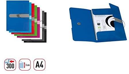 Herlitz File–Blue 11206414Polypropylene (PP) (Files Polypropylene (PP), Blue, A4, Portrait, Elastic)