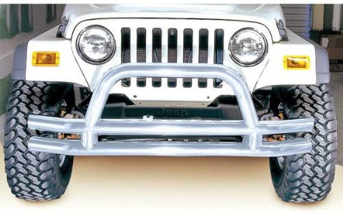 Rugged Ridge 11563.01 Stainless Front Tube Bumper with Grill Guard