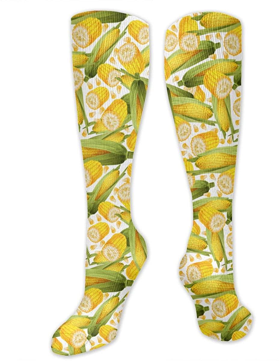 Yellow Corn Athletic Socks Thigh Stockings Over Knee Leg High Socks