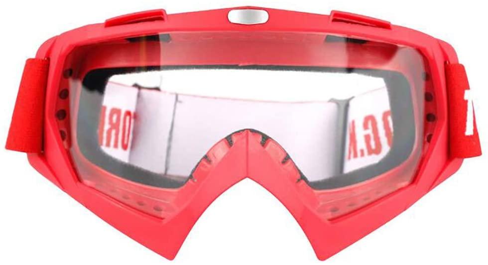 LALEO Motorcycle Off-Road Racing Goggles Winter Skate Sled ATV Eyewear Motocross DH MTB Glasses Single Lens Clears