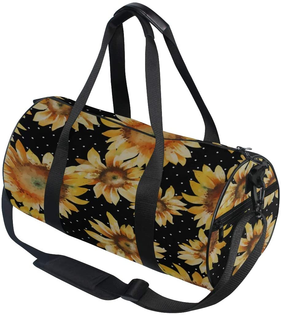 Cool Shoulder Bag Happy And Beautiful Sunflower Yoga Gym Totes Handbag Travel Duffel Bags Shoulder Crossbody Fitness Sport Girl Men Women Gym Travel Bag
