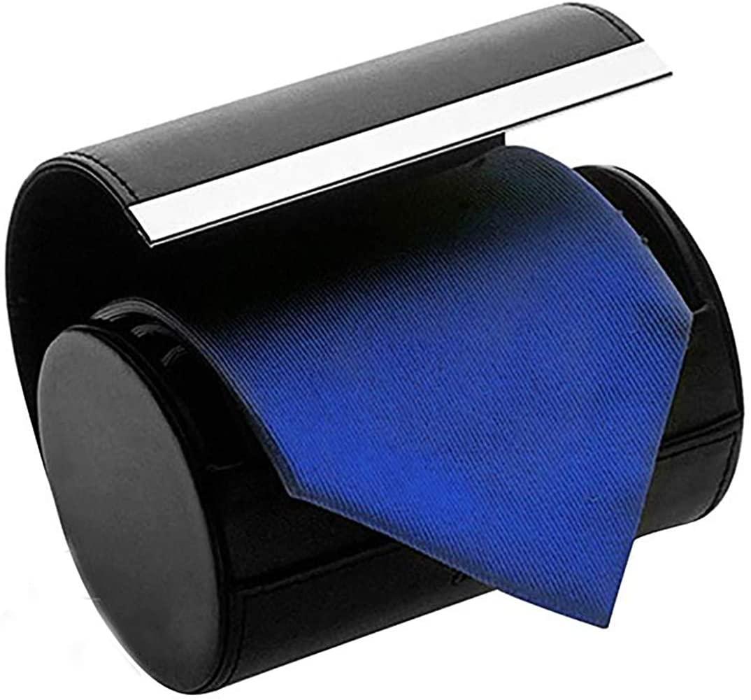 Necktie Neck Tie Roll Case Travel Storage Case Gift Box Cylinder Shape