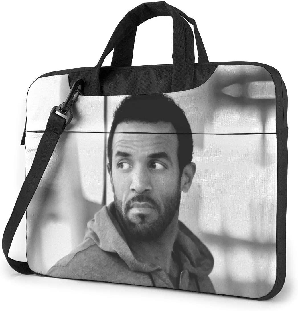 N/C Craig David Waterproof Laptop Shoulder Messenger Bag, Computer Protective Case, Briefcase, Unisex, Exquisite Style.14 Inch