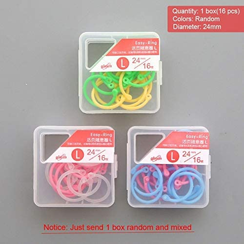 Clips Colorful Plastic Circle Ring Multi-Function Creative DIY Loose-Leaf Binder Calendar Ring Keychain Key Ring Stationery - (Color: L)