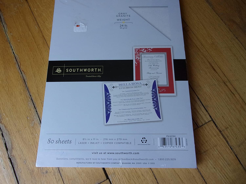Southworth Grey Granite Paper 24 Lb.