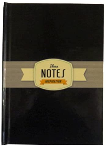 A6 Hard Cover Retro Notebook - Inspiration Design - Black - 120 Pages - Size 5.8' X 4.1'