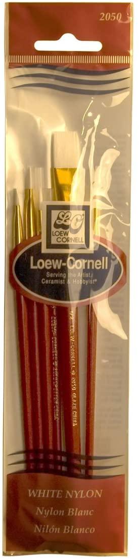 Loew-Cornell 2050 Brush Set, White Nylon