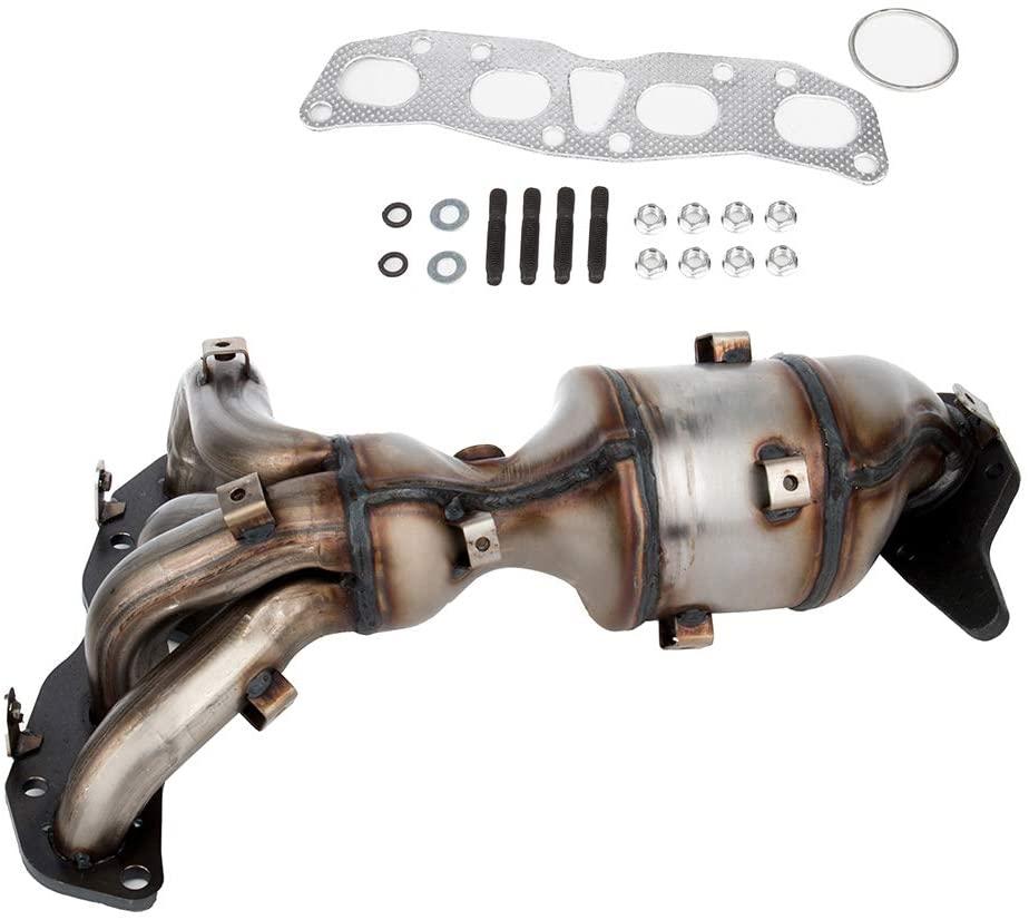 Exhaust Manifold Catalytic Converter w/Gasket Compatible for 2007-2012 Altima Base Sedan 4-Door 2008-2009 Altima Coupe Coupe 2-Door 2007-2011 Altima Hybrid Sedan 4-Door
