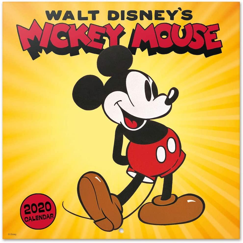 ERIK - Disney Mickey 2020 Wall Calendar, 16 Months, 30 x 30cm,CP20019