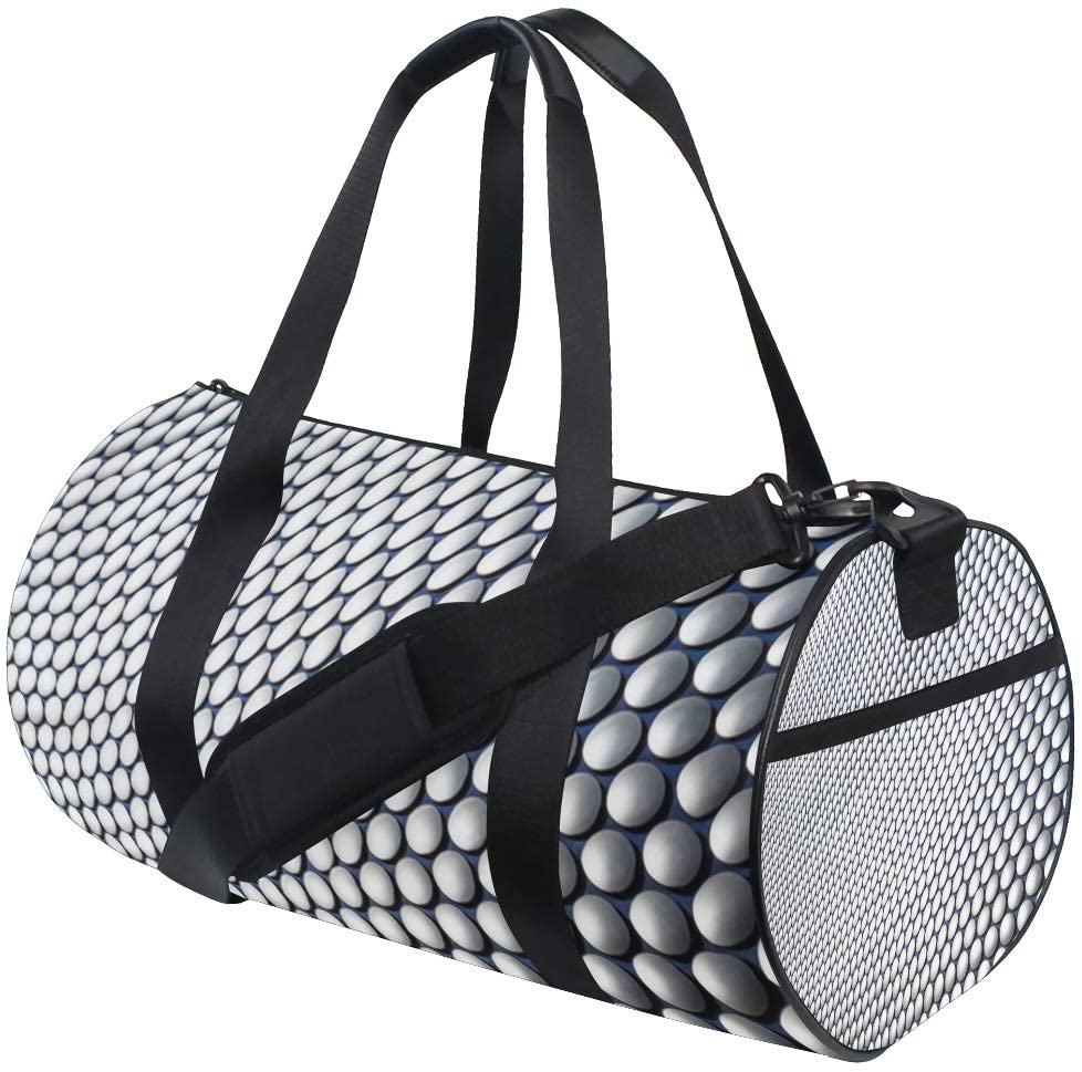 for Women and Men Architecture Sunlight Building Skyscraper Pattern Fitness Duffle Gym Storage Travel Sports Bags Light Drum