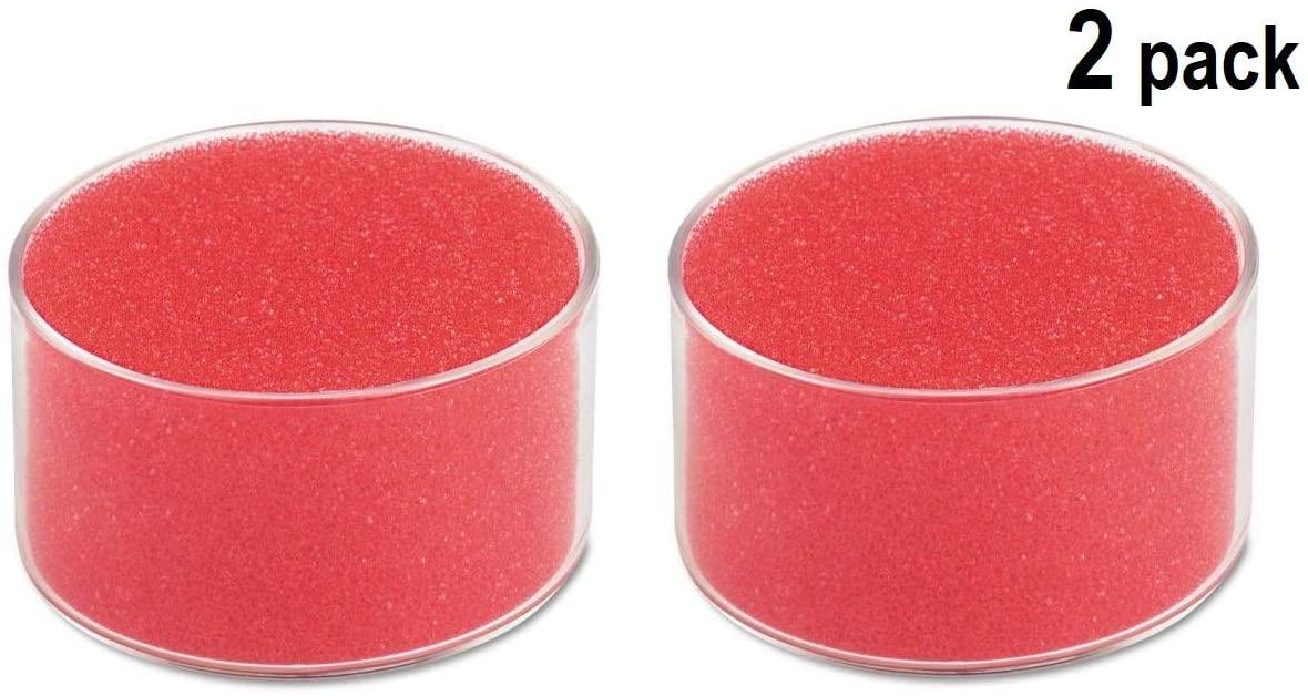 1InTheOffice Sponge Cup Moistener,Fingertip Paper Moistener,Finger Moistener for Paper (2 Pack)