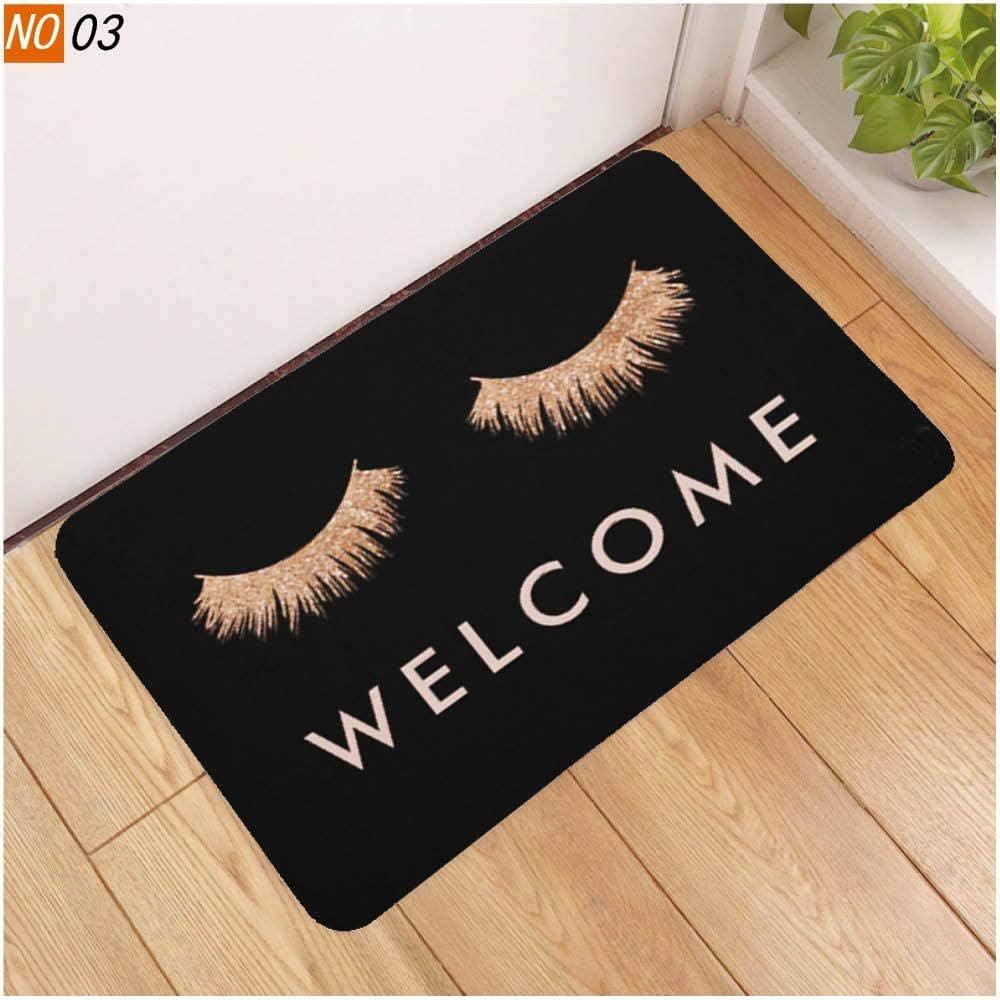 weizhang Sholisa Anti Slip Bath Mat Bathroom Carpet Rug 3D Printed Beauty Eye Eyelash Water Absorption Bathroom Carpet Rug Living Room eyelash3