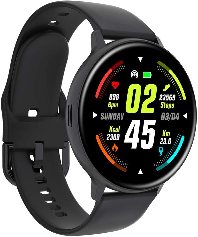 Full Round Screen Smart Watch, Bluetooth Call Heart Rate Monitoring Sports Watch for iOS Android Fitness Watch