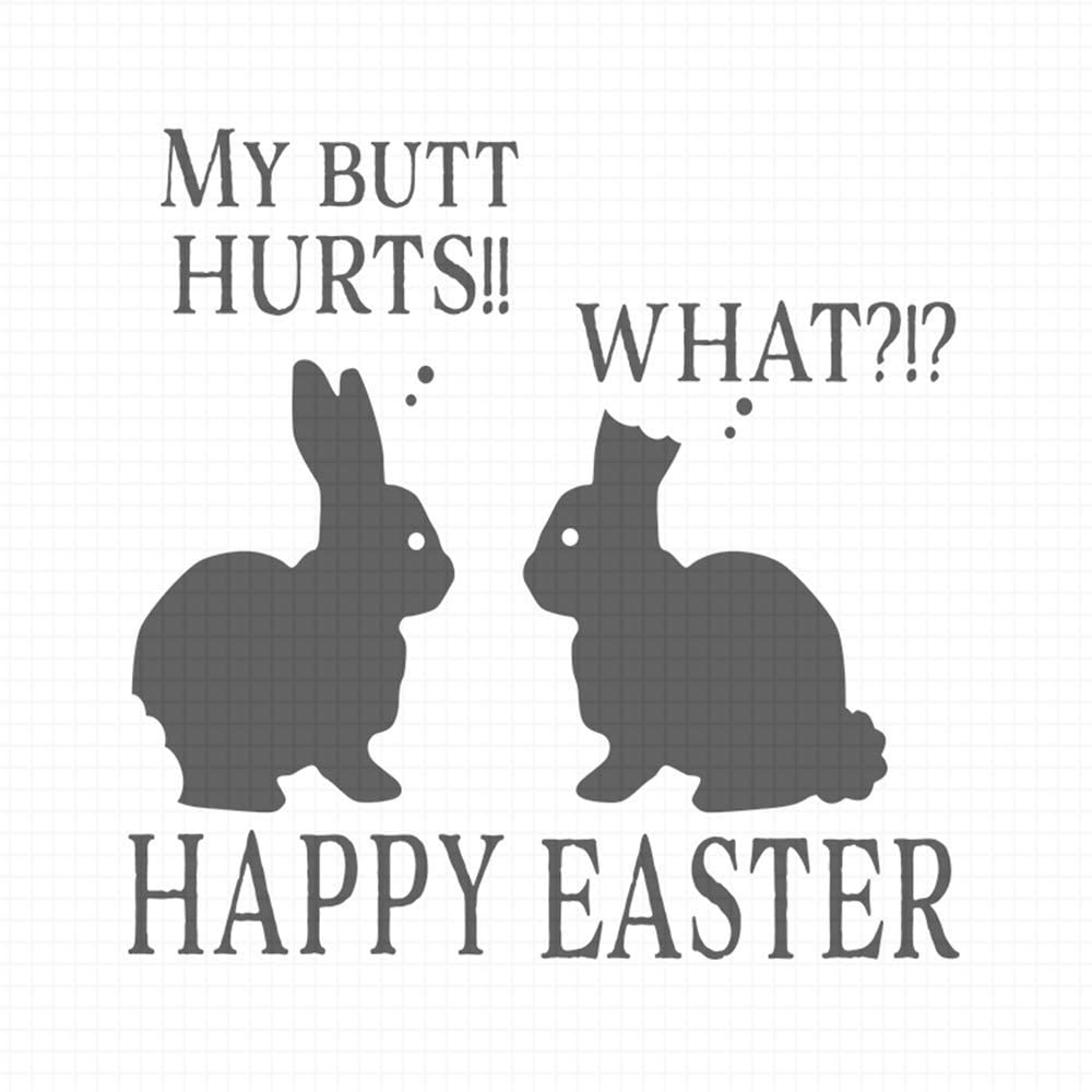 Happy Easter, pre-Inked Rubber Stamp (#100648-30BK)