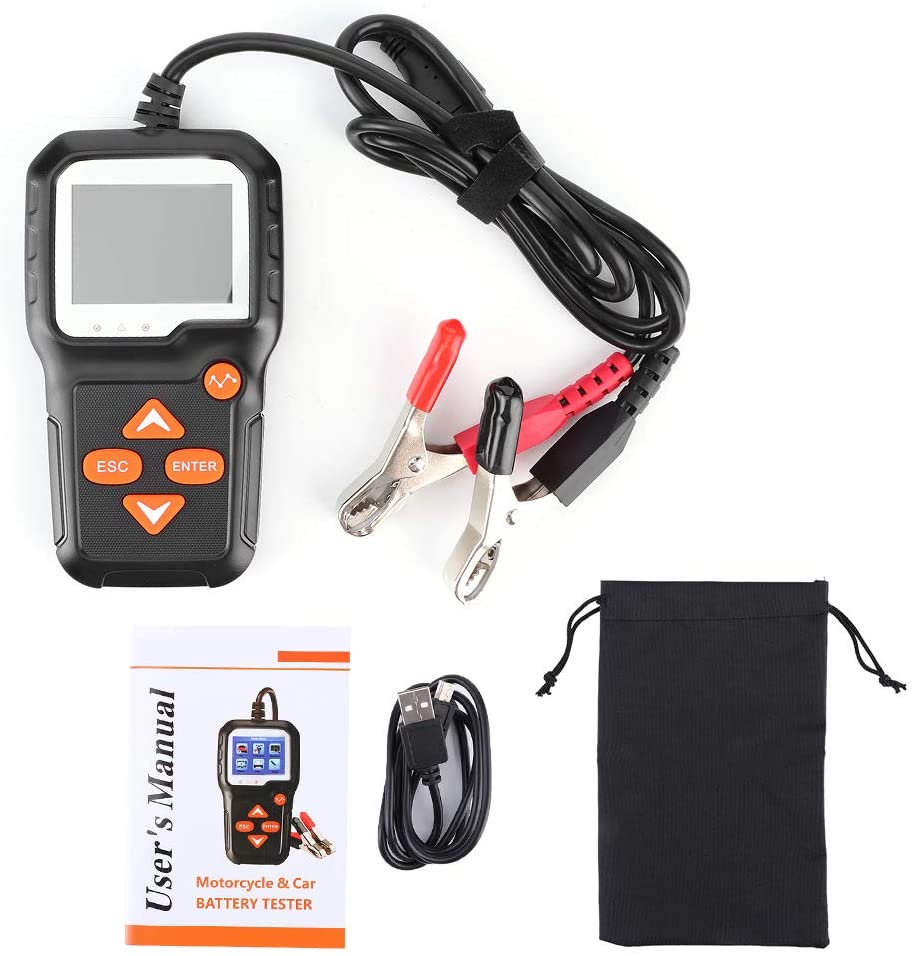 OBD II Scanner KW650 Automatic Battery Tester for 6V‑12V Motorcycle Car Digital Analyzer Battery Load Analyzer