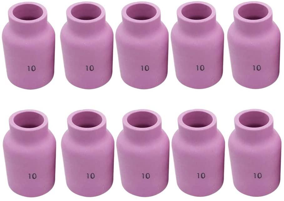 Hemobllo 53N88 TIG Welding Torch Nozzle Welding Ceramic Cups Nozzle for TIG Welding Torch 10pcs