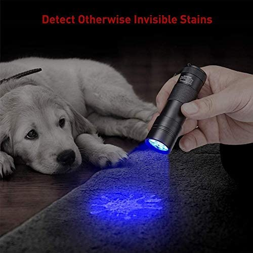 PetsPro 12 LEDs UV Blacklight for Pet Urine and Stains Detector