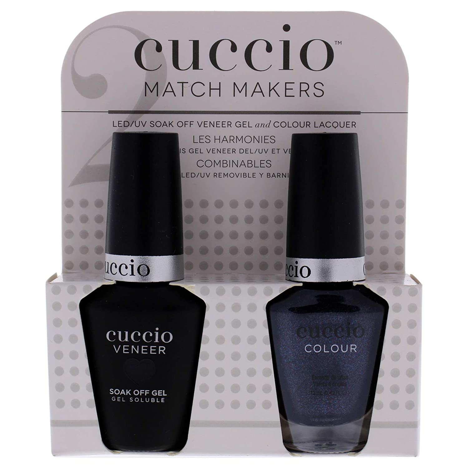 Cuccio Matchmaker - Colour Nail Lacquer & Veneer Gel Polish - Cover Me Up! - For Manicures & Pedicures, Full Coverage - Long Lasting, High Shine - Cruelty, Formaldehyde & Toluene Free - 2 pc